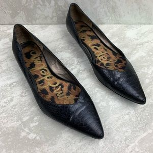 Sam Edelman Igador Point Toe Black Flats Size 8.5